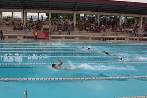 Các vận động viên thi nội dung 50 m tự do nam vô địch.