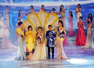 Thí sinh Phạm Thùy Trang, mang số báo danh 032 đã đăng quang ngôi vị