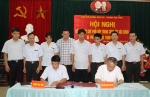 Lãnh đạo Ban Nội chính Tỉnh ủy và Thanh tra tỉnh ký kết Quy chế phối hợp.