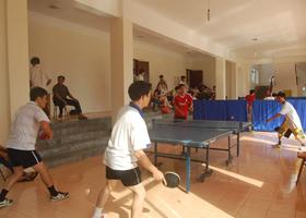 Bộ môn bóng bàn phát triển sôi nổi trong các cơ quan , đơn vị, trường học trên địa bàn huyện Cao Phong.