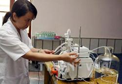 Cán bộ viện Vác-xin Nha Trang nghiên cứu sản xuất Vác-xin phòng cúm A/H1N1