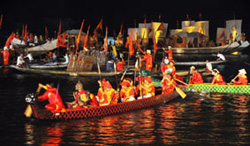 Tái hiện cuộc thao diễn thủy binh thời các chúa Nguyễn