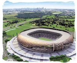 Sân vận động Soccer City, nơi diễn ra lễ khai mạc cúp bóng đá thế giới 2010