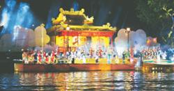 Một màn diễn trong Huyền thoại sông Hương.