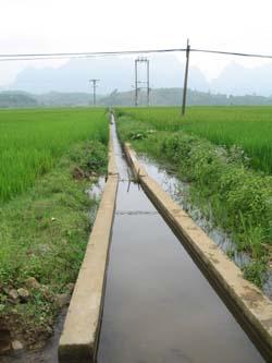Các tuyến kênh mương nội đồng đã được xây kiên cố đảm bảo dân nước an toàn trong mùa mưa bão