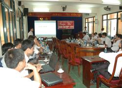 Tập thể CBCNV-LĐ VNTP Hoà Bình tham gia cuộc thi sáng tạo VNTP - 2010