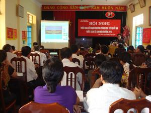 Lãnh đạo Sở Y tế triển khai nhiệm vụ chương trình mục tiêu QG NS&VSMT năm 2011