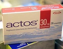Thuốc trị tiểu đường tuýp 2 Actos chứa Pioglitazone bị Pháp yêu cầu ngừng sử dụng vì tăng nguy cơ bị ung thư bàng quang.