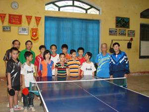 Phong trào bóng bàn trong thanh thiếu niên ở thành phố Hòa Bình ngày cành được nâng cao chất lượng.