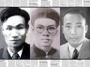 Các nhà báo Vũ Trọng Phụng, Trúc Khê và Vũ Bằng