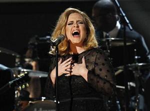 Adele dẫn đầu giải thưởng tại Grammy lần thứ 54.