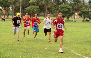 Các VĐV thi đấu tại nội dung 1.500 m nam.