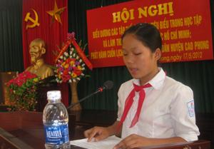 Bùi Thị Thúy Chiều, điển hình cá nhân học và làm theo tấm gương đạo đức Hồ Chí Minh.