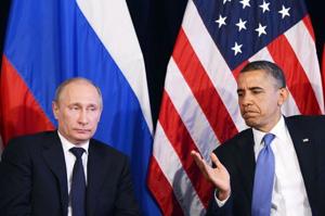 Tổng thống Nga Putin và người đồng cấp Mỹ Obama hội đàm bên lề G20 ở Mexico hôm 18/6.