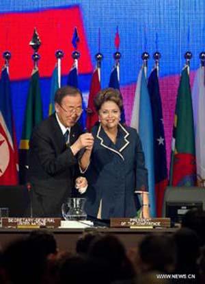 Tổng Thư ký LHQ cảm ơn Tổng thống nước chủ nhà Hội nghị Rio+20.