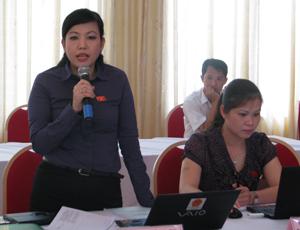 Đại biểu QH Nguyễn Thanh Hải (Đoàn Hoà Bình) phát biểu ý kiến về Luật Xuất bản (sửa đổi) tại buổi thảo luận tổ