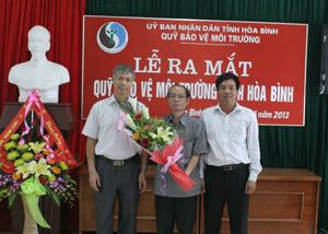 Lễ ra mắt quỹ BVMT tỉnh Hòa Bình.