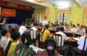 Tiến sĩ Nguyễn Bình Nguyên, Viện VSDTT.Ư kết luận tại Hội thảo.