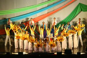 Tiết mục tốp ca của đơn vị Quế Võ (Bắc Ninh) đạt giải nhì.