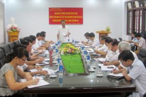 Đồng chí Đinh Duy Sơn, Phó Chủ tịch HĐND tỉnh kết luận tại buổi giám sát.