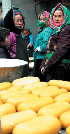 Bánh láo khoải của người Mông.