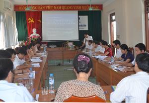 Các đại biểu tại hội thảo nâng cao năng lực quản lý và triển khai các văn bản về ATTP.