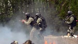 Giao tranh diễn ra dữ dội ở Slavyansk hai ngày qua - Ảnh: zerohedge.com.