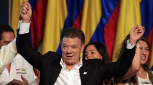 Tổng thống tái đắc cử Colombia Juan Manuel Santos. (Ảnh: Reuters)
