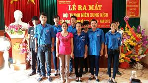 Ra mắt Đội thanh niên xung kích xây dựng văn minh đô thị phường Tân Hòa.
