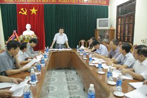 Đồng chí Nguyễn Văn Chương, Phó Chủ tịch UBND tỉnh phát biểu tại cuộc họp.