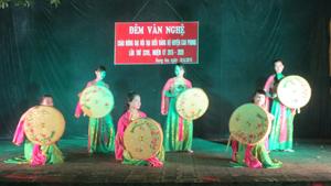 Tiết mục tham gia Liên hoan nhóm tuyên truyền ca khúc cách mạng tại xã Thung Nai.