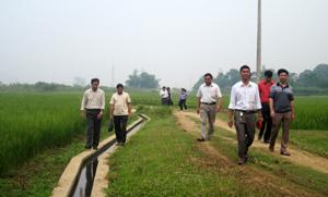Công trình mương bai do Dự án PSARD hỗ trợ đầu tư tại xã Hợp Thành (Kỳ Sơn) phát huy hiệu quả trong sản xuất nông nghiệp.