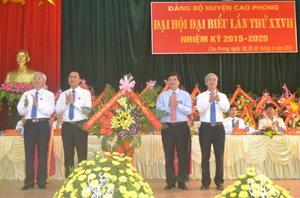 Khai mạc Đại hội Đảng bộ huyện Cao Phong lần thứ XXVII