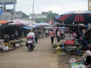 Chợ Nghĩa, thị trấn Vụ Bản là chợ hạng 2 duy nhất của huyện Lạc Sơn họp chợ thường xuyên, phục vụ tốt nhu cầu mua bán, tiêu dùng.