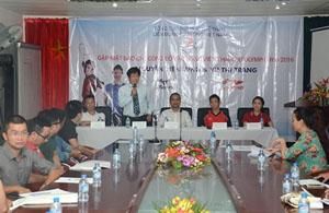 Ông Lê Thanh Sang, Phó Chủ tịch kiêm Tổng Thư ký Liên đoàn Cầu lông Việt Nam phát biểu tại buổi họp báo.