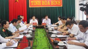 Các đại biểu dự hội nghị tại điểm cầu tỉnh ta.