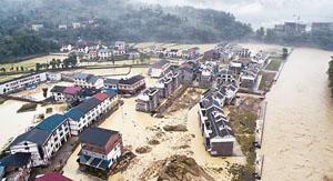 Mưa lớn gây ngập lụt tại nhiều vùng ở miền nam Trung Quốc. Ảnh CRI.CN