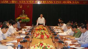 Ban Thường vụ Tỉnh ủy cho ý kiến một số vấn đề quan trọng của tỉnh