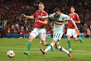 Cầu thủ vào sân từ băng ghế dự bị Carrasco ghi bàn ấn đinh tỉ số 4-0 cho đội tuyển Bỉ. Ảnh: guardian