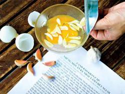 Trứng rán với tỏi là món ăn quen thuộc của nhiều người