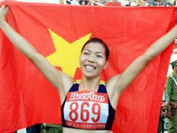 Vận động viên điền kinh Vũ Thị Hương