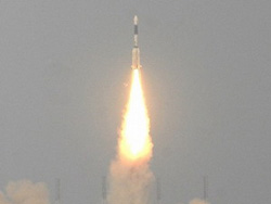 Tên lửa đẩy của Ấn Độ được phóng từ sân bay vũ trụ ở Sriharikota