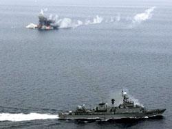 Tập trận chung Hàn - Mỹ tại Hoàng Hải.