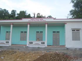 Nhà văn hóa khu 4, Thị trấn Kỳ Sơn được hoàn thành đầu tháng 7/2010 với tổng giá trị trên 130 triệu đồng.