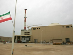 Toàn cảnh bên ngoài nhà máy năng lượng hạt nhân Bushehr, miền nam Iran