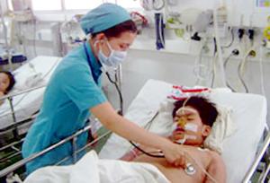 Một ca mắc SXH nặng được điều trị tại BV Nhi đồng 1 TPHCM