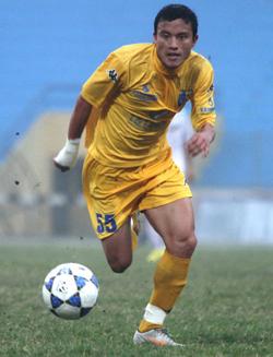 Hậu vệ Văn Biển - người được chính HLV Falko Goetz tuyển chọn.