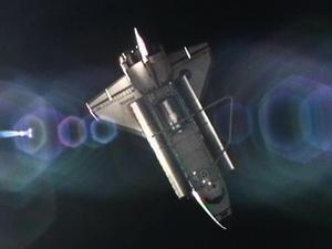 Tàu con thoi Atlantis sau khi rời trạm ISS (Nguồn: NASA)