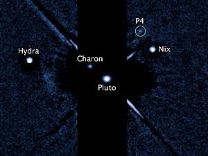 HÌnh ảnh Mặt trăng thứ tư qua kính viễn vọng không gian Hubble. (Ảnh: nasa.gov)