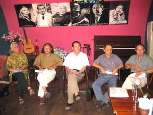 5 nhạc sĩ Đinh Quang Hợp, Đoàn Bổng, Thế Song, Lê Việt Hòa,  Ngọc Khuê